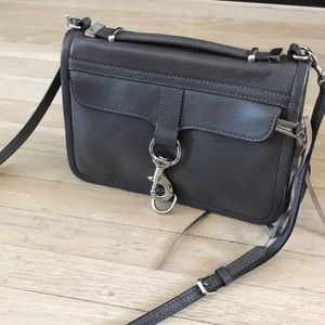 Rebecca Minkoff small gray cross body bag